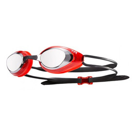 TYR Black Hawk Racing Mirrored Gogle Mężczyźni, silver/red/black